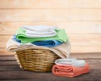 Πετσέτες πλυντηρίων Στοκ εικόνα με δικαίωμα ελεύθερης χρήσης