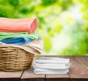 Πετσέτες πλυντηρίων Στοκ φωτογραφία με δικαίωμα ελεύθερης χρήσης