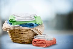 Πετσέτες πλυντηρίων Στοκ εικόνες με δικαίωμα ελεύθερης χρήσης