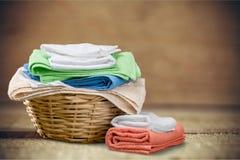 Πετσέτες πλυντηρίων Στοκ Φωτογραφίες
