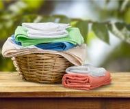 Πετσέτες πλυντηρίων Στοκ Εικόνα