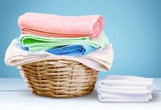 Πετσέτες πλυντηρίων Στοκ φωτογραφίες με δικαίωμα ελεύθερης χρήσης