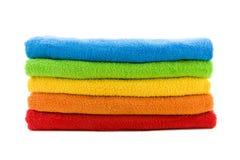 πετσέτες στοιβών Στοκ φωτογραφίες με δικαίωμα ελεύθερης χρήσης