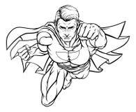 Πετώντας έξοχος ήρωας διανυσματική απεικόνιση