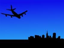 πετώντας αεροπλάνο SAN Francisco διανυσματική απεικόνιση