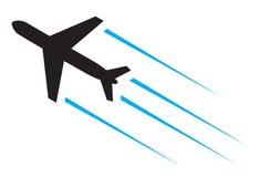 Πετώντας αεροπλάνο Στοκ Φωτογραφία