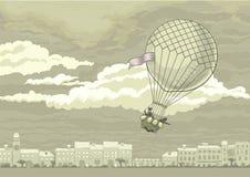 Πετώντας αερόστατο διανυσματική απεικόνιση