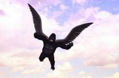 Πετώντας απεικόνιση εικόνας φαντασίας γορίλλων Στοκ φωτογραφία με δικαίωμα ελεύθερης χρήσης