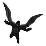 Πετώντας απομονωμένη γορίλλας απεικόνιση Στοκ Φωτογραφία