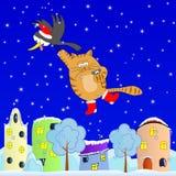 Πετώντας γάτα Στοκ εικόνα με δικαίωμα ελεύθερης χρήσης