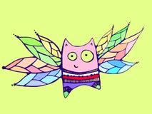 Πετώντας γάτα Στοκ Εικόνα
