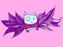Πετώντας γάτα Στοκ φωτογραφίες με δικαίωμα ελεύθερης χρήσης