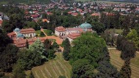 Πετώντας γύρω του κάστρου Buchlovice, Δημοκρατία της Τσεχίας απόθεμα βίντεο