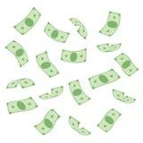 Πετώντας δολάρια τραπεζογραμματίων στοκ φωτογραφία