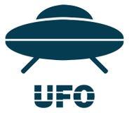 Πετώντας εικονίδιο πιατακιών Ufo Στοκ Εικόνα