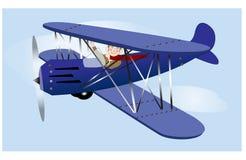 Πετώντας εκλεκτής ποιότητας αεροπλάνο Στοκ φωτογραφία με δικαίωμα ελεύθερης χρήσης