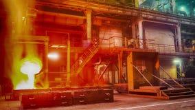 Πετώντας εργοστάσιο σιδηροκραμάτων απόθεμα βίντεο