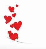 Πετώντας διακόσμηση καρδιών Στοκ εικόνες με δικαίωμα ελεύθερης χρήσης