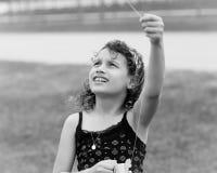 πετώντας ικτίνος κοριτσιών Στοκ εικόνα με δικαίωμα ελεύθερης χρήσης