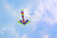 Πετώντας ικτίνος χρώματος Στοκ φωτογραφίες με δικαίωμα ελεύθερης χρήσης