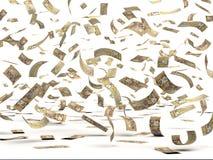 Πετώντας καναδικά δολάρια Στοκ Εικόνες