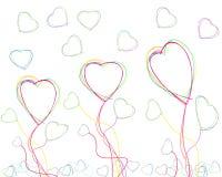 πετώντας καρδιές Στοκ φωτογραφίες με δικαίωμα ελεύθερης χρήσης