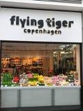 Πετώντας κατάστημα της Κοπεγχάγης τιγρών στοκ φωτογραφίες με δικαίωμα ελεύθερης χρήσης