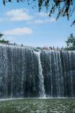 Πετώντας καταρράκτης στο δάσος μπαμπού της περιοχής θάλασσας μπαμπού μέσα Στοκ φωτογραφίες με δικαίωμα ελεύθερης χρήσης