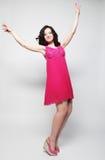 Πετώντας κορίτσι νεράιδων στο ρόδινο φόρεμα Στοκ εικόνα με δικαίωμα ελεύθερης χρήσης