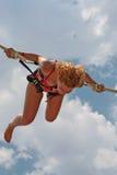 πετώντας κορίτσι Στοκ εικόνα με δικαίωμα ελεύθερης χρήσης