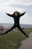 πετώντας κορίτσι Στοκ Φωτογραφία