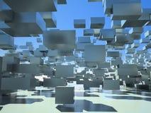Πετώντας κύβοι διανυσματική απεικόνιση