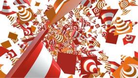 Πετώντας κώνοι κυκλοφορίας σε δύο χρώματα απεικόνιση αποθεμάτων