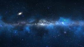 Πετώντας μέσω τα αστέρια απόθεμα βίντεο