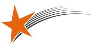 Πετώντας μετεωρίτης αστεριών λογότυπων, διανυσματικό λογότυπο διανυσματική απεικόνιση