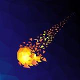 Πετώντας μετεωρίτης στο διάστημα Στοκ φωτογραφία με δικαίωμα ελεύθερης χρήσης