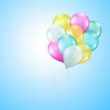 Πετώντας μπαλόνια Στοκ εικόνες με δικαίωμα ελεύθερης χρήσης