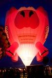Πετώντας μπαλόνι ζεστού αέρα χοίρων στοκ εικόνα