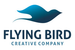 Πετώντας λογότυπο πουλιών Στοκ Εικόνες