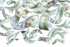 Πετώντας δολάρια Στοκ Εικόνες