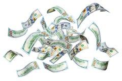 Πετώντας δολάρια Στοκ εικόνα με δικαίωμα ελεύθερης χρήσης