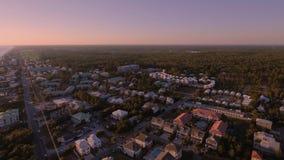 Πετώντας πέρα από τις παραλίες της νότιας παραλίας, Μαϊάμι, Φλώριδα απόθεμα βίντεο