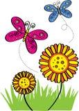 Πετώντας πεταλούδα ελεύθερη απεικόνιση δικαιώματος