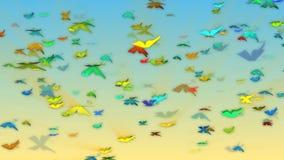 Πετώντας πεταλούδες απόθεμα βίντεο