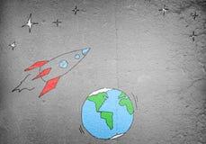 Πετώντας πύραυλος Στοκ Εικόνα