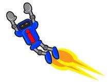 Πετώντας ρομπότ διανυσματική απεικόνιση