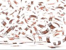 Πετώντας ρωσικά ρούβλια απεικόνιση αποθεμάτων