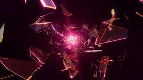 Πετώντας σπασμένο γυαλί ελεύθερη απεικόνιση δικαιώματος