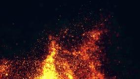 Πετώντας σπινθήρες της πυρκαγιάς με τον καπνό απόθεμα βίντεο