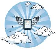 Πετώντας ταμπλέτα με τα φτερά Στοκ εικόνα με δικαίωμα ελεύθερης χρήσης